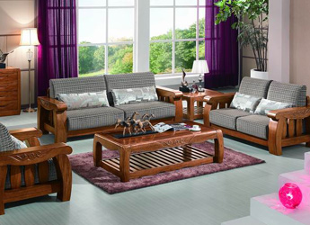 T323 Sofa Walnut Color